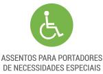 Assentos para portadores de necessidades especiais
